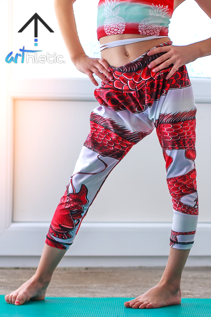 Dragon Mini Harem Pants - Arthletic Wear
