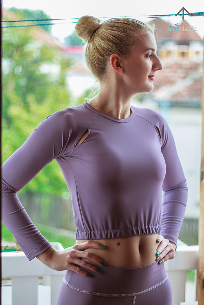 Persephone Top - Smoky Grape by arthletic-wear.myshopify.com I Crop Tops I