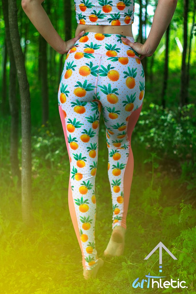 Citrus Mesh Leggings (FINAL SALE) - Arthletic Wear