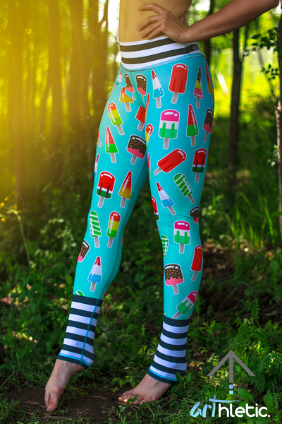 Mint Popsicles Leggings (L)