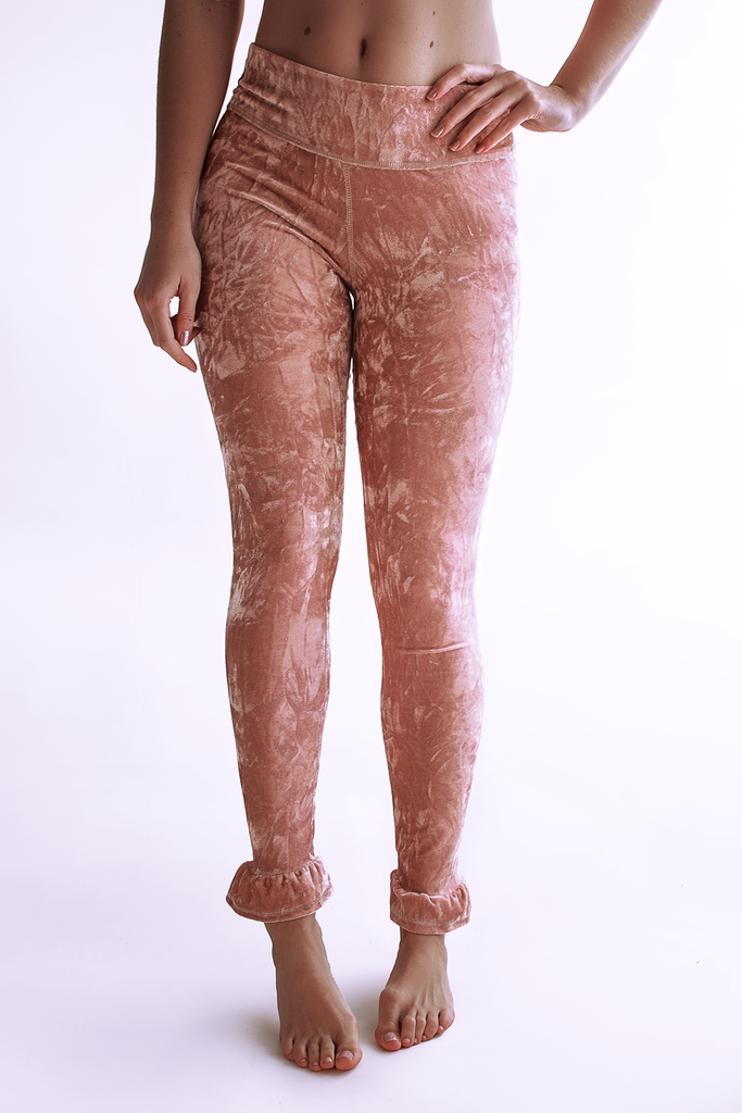Velvet Crush Leggings- Rose Quartz by arthletic-wear.myshopify.com I Leggings - Solids I