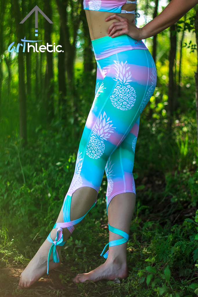 Piña Colada ballerina capris by arthletic-wear.myshopify.com I Leggings I