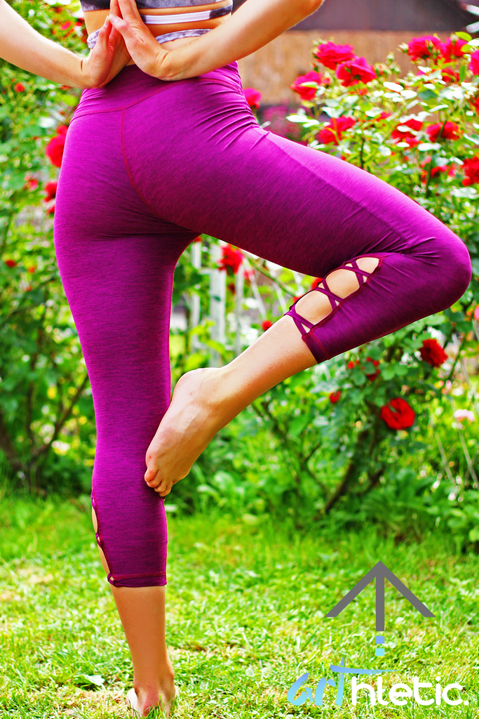 Magenta Grace criss-cross capris - Arthletic Wear - 1