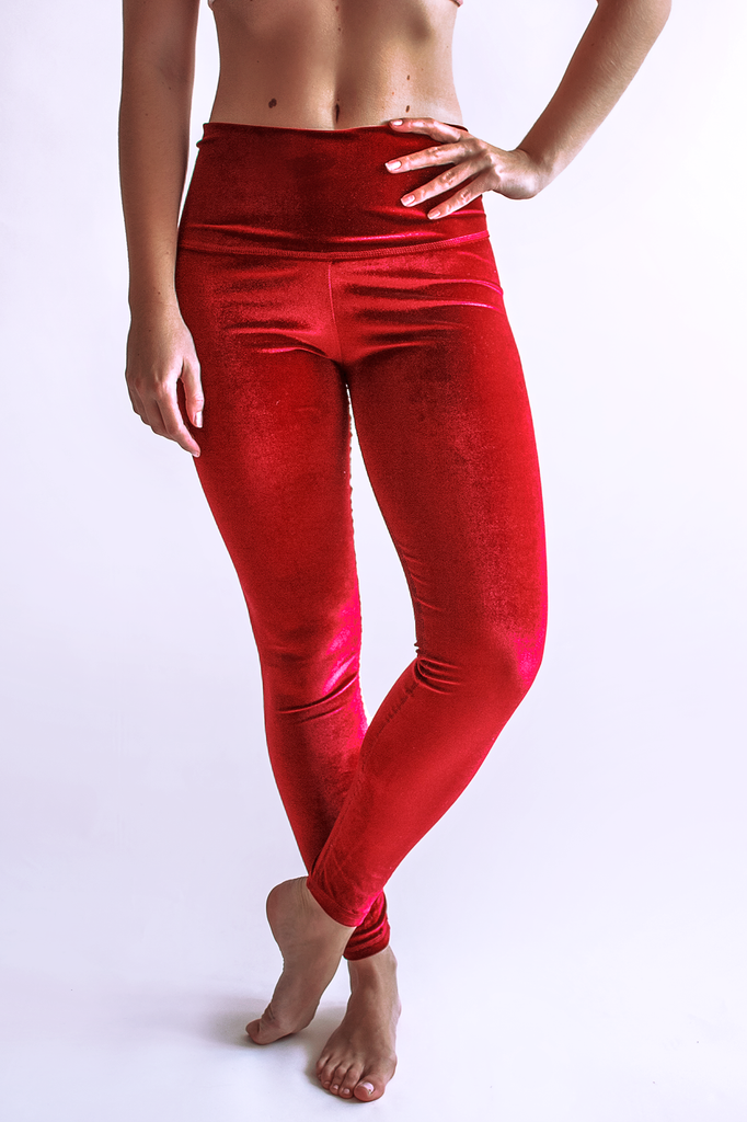 Luz Kimono Leggings - Crimson by arthletic-wear.myshopify.com I Leggings - Solids I