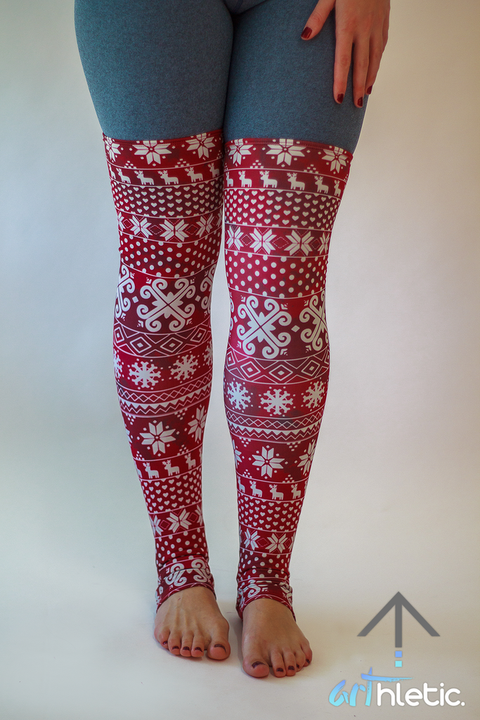 Burgundy Leg Warmers - Arthletic Wear