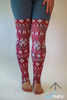 Burgundy Leg Warmers - Arthletic Wear - 2
