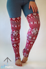 Burgundy Leg Warmers - Arthletic Wear - 1