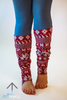 Burgundy Leg Warmers - Arthletic Wear - 3