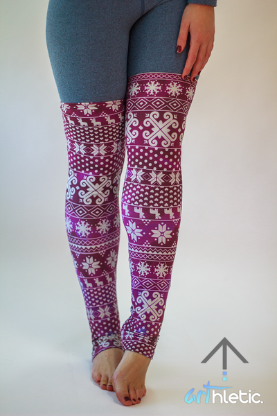 Purple Leg Warmers - Arthletic Wear - 1
