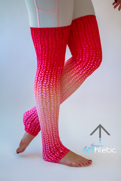 Pink Leg Warmers - Arthletic Wear - 1