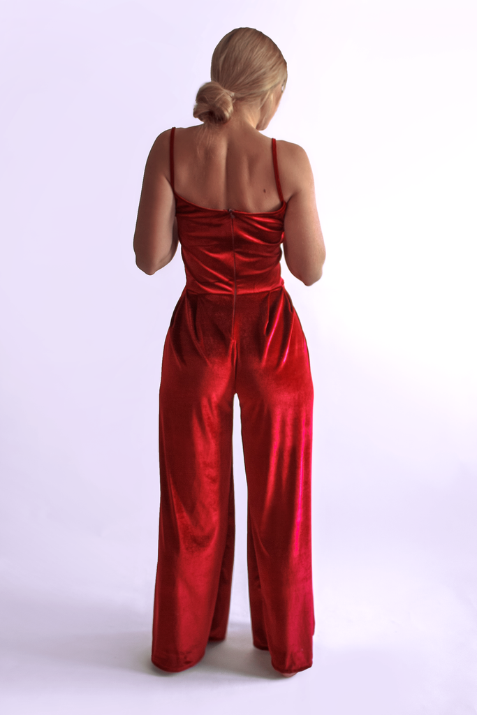 Poinsettia Romper - Arthletic Wear