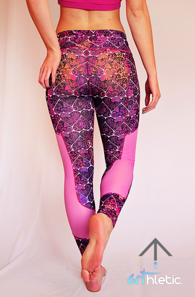 Love Struck Leggings (M) - Arthletic Wear