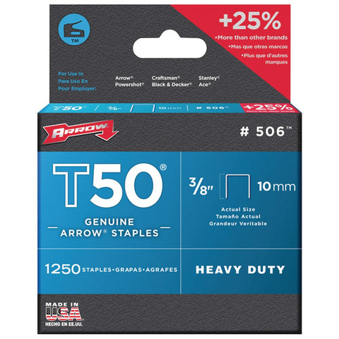 "T50-3/8""-Staples;-1250-staples-per-pk-Heavy-duty--Uses-type-T50-staples--50624"