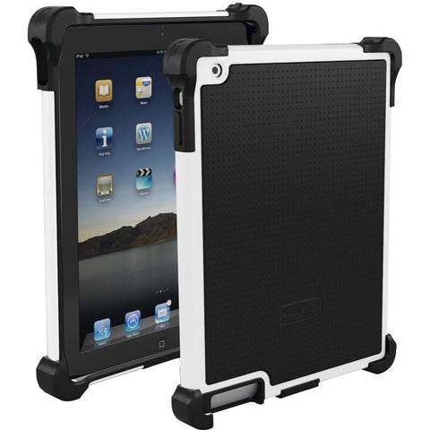 iPad(R)-with-Retina(R)-display/iPad(R)-3rd-Gen/iPad(R)-2-Tough-Jacket(TM)-Case-(White/Black)--Fits-iPad(R)with-Retina(R)display/iPad(R)-3rd-Gen/iPad(R)-2--Reinforced-corner-protection--Impact-resistant-polycarbonate-shell