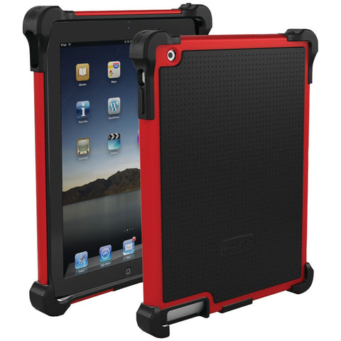 iPad(R)-with-Retina(R)-display/iPad(R)-3rd-Gen/iPad(R)-2-Tough-Jacket(TM)-Case-(Red/Black)--Fits-iPad(R)with-Retina(R)display/iPad(R)-3rd-Gen/iPad(R)-2--Reinforced-corner-protection--Impact-resistant-polycarbonate-shell