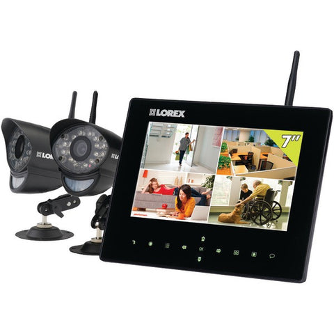 "SD7-+-Wireless-Video-Monitoring-System-with-7""-LCD-Monitor-2-Wireless-Cameras-LORLW2732"