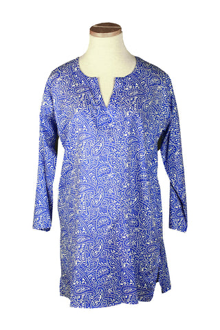 Royal Blue and White Paisley KikiSol Tunic