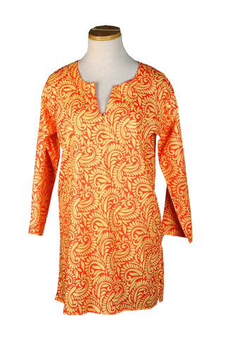 Papaya and Cantaloup Tahiti KikiSol Tunic