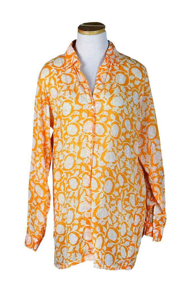 Holi Collection Orange Over-Sized KikiSol Boyfriend Shirt
