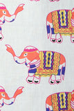 White Multi-Colored Elephant KikiSol Tunic