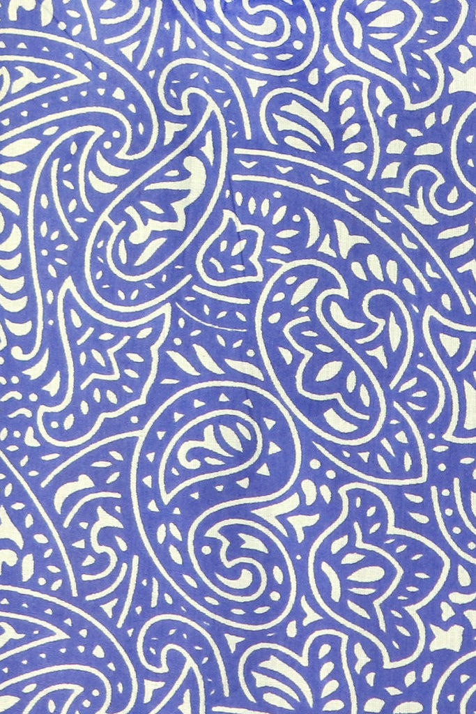 Royal Blue and White Paisley Tunic
