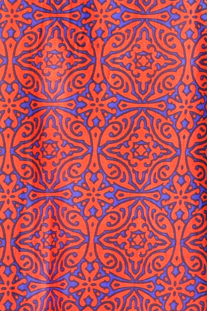 Deep Orange and Royal Blue Mosaic KikiSol Tunic