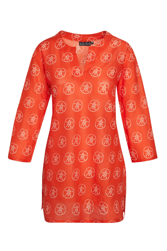Orange Sand Dollar KikiSol Tunic