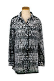 Black and White Shibori Over-Sized KikiSol Boyfriend Shirt