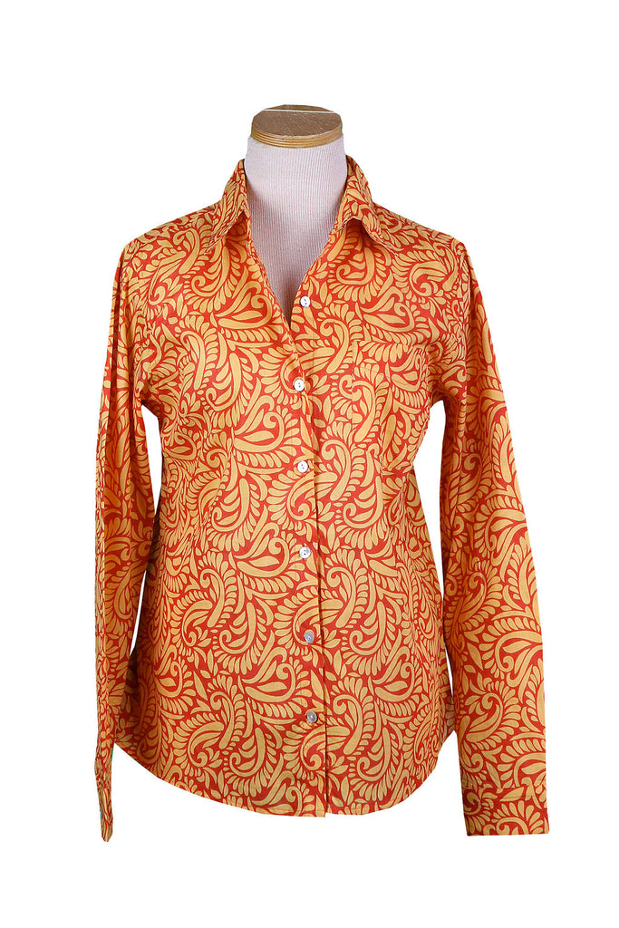 Papaya and Cantaloup Tahiti Button Down Shirt