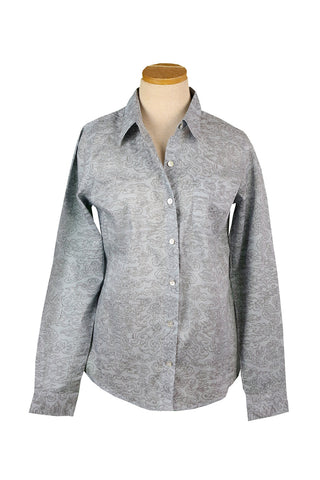 Silver and Gray Clouds Button Down Shirt