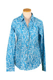 Turquoise and White Pondicherry Button Down Shirt