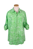Lime Paisley Over-Sized KikiSol Boyfriend Shirt