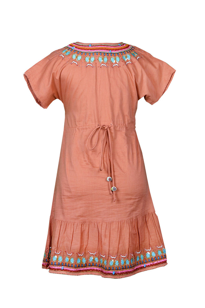 Spice Butterfly Embroidered and Beaded Tunic