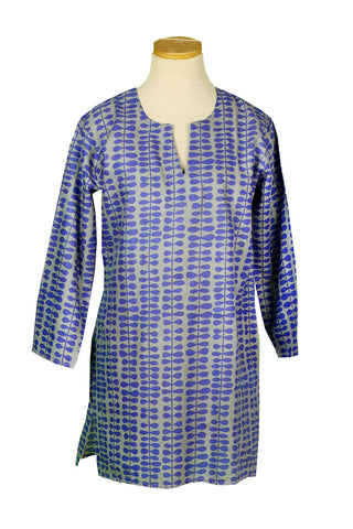 Royal Blue on Gray Willow KikiSol Tunic
