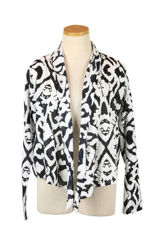 Black and White Aborigine Short Jacket