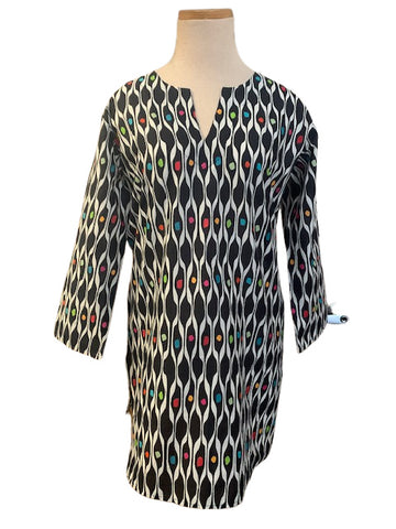 Black and Multi Pebbles KikiSol Tunic