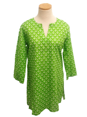 Green Anchors KikiSol Tunic