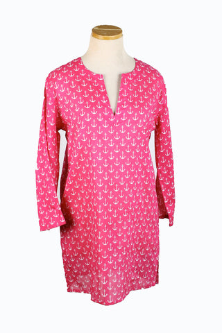Anchors Coastal Tunic Pink