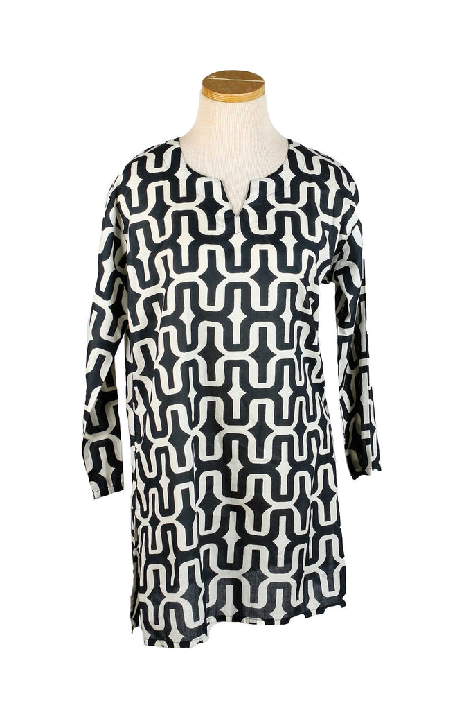 Black and White Zanzibar Tunic