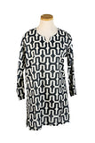 Black and White Zanzibar KikiSol Tunic