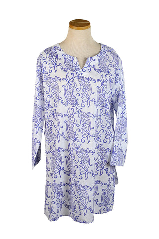 Royal Blue Block Paisley KikiSol Tunic
