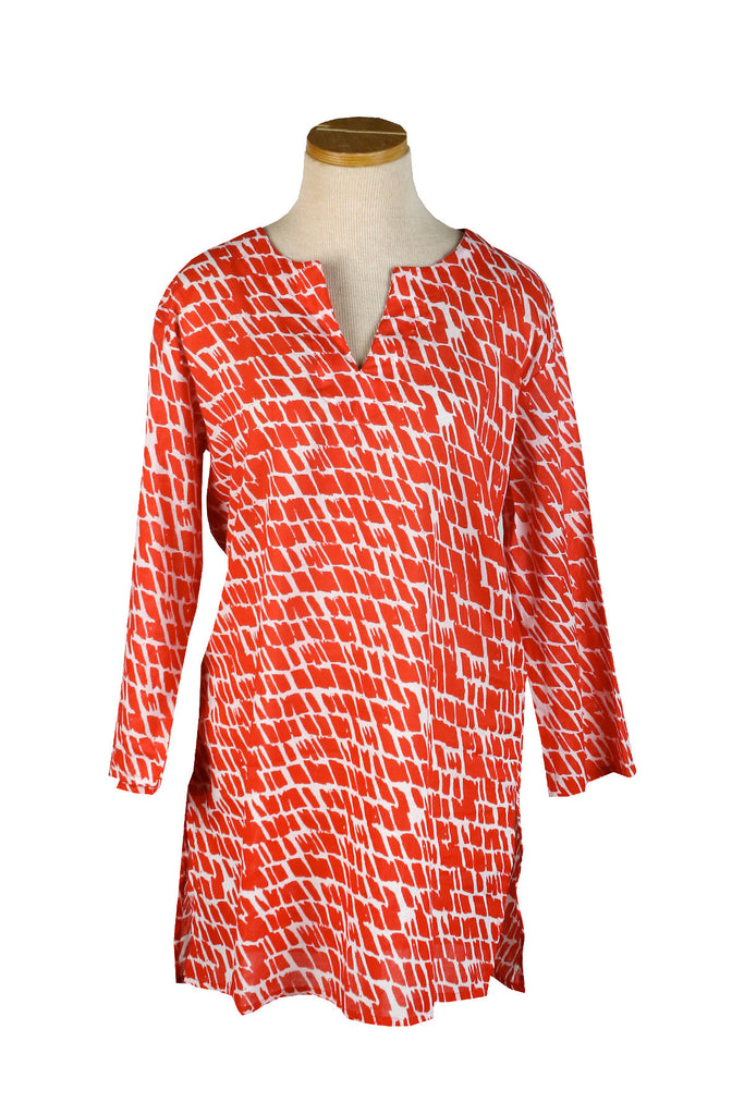 Papaya Paintbrush KikiSol Tunic