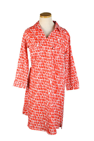 Tunic Dress Papaya Paintbrush