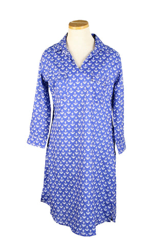 Tunic Dress Royal Blue Anchor