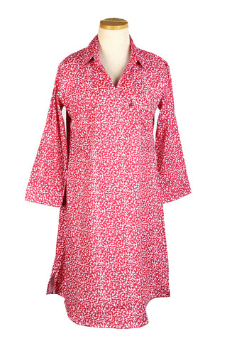 Tunic Dress Pink Rain Drops