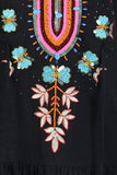 Black Butterfly Embroidered and Beaded Tunic