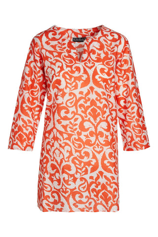 Orange and White Mykonos KikiSol Tunic