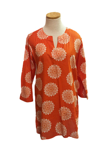 Orange Moroccan KikiSol Tunic