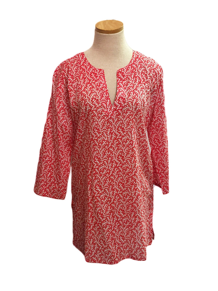 Papaya Coral Reef KikiSol Tunic