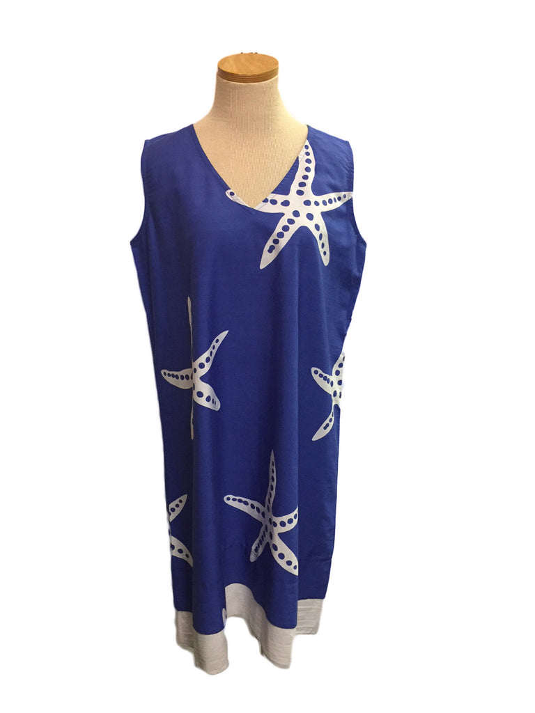 Periwinkle Starfish A-Line Dress